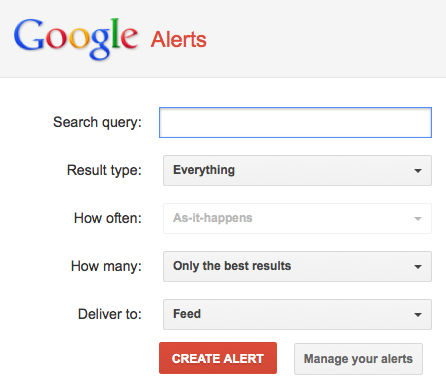 google alert sales stuff