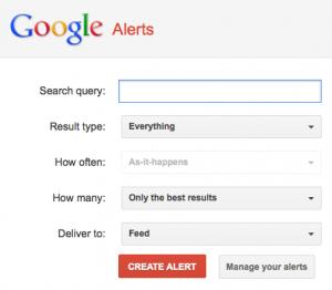 google alert sales stuff